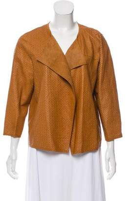 Lafayette 148 Textured Leather Jacket w/ Tags