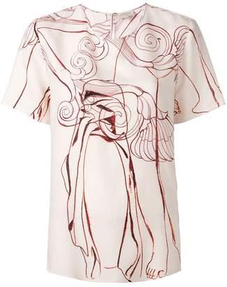 Zeus+Dione botanic print blouse