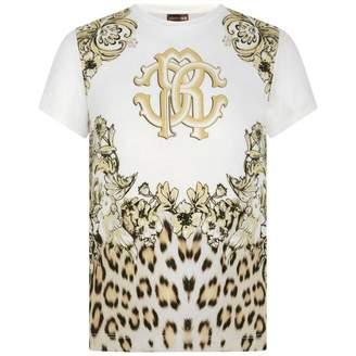 Roberto Cavalli Roberto CavalliGirls Ivory Leopard Print Top