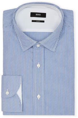 HUGO BOSS Open Blue Striped Slim Sport Shirt