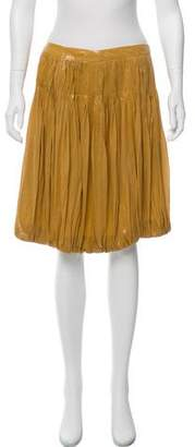 Alberta Ferretti Plissé Knee-Length Skirt