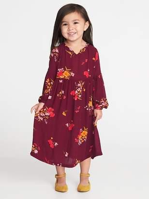 Old Navy Balloon-Sleeve Midi Dress for Toddler Girls