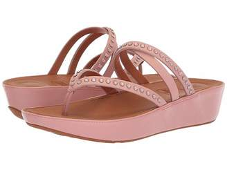 FitFlop Linnytm Crisscross Toe-Thong Sandals - Crystal Women's Sandals
