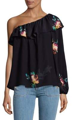 French Connection Drape One-Shoulder Blouse