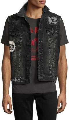 True Religion Men's Distressing Jimmy Vest