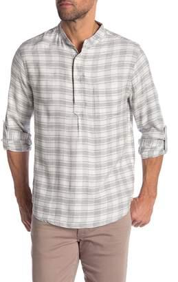 Onia Ian Popover Plaid Regular Fit Shirt