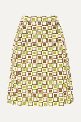 Prada Printed Cotton Skirt - Green