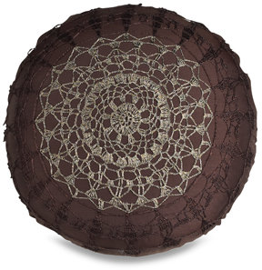 Nicole Miller Lace Round Toss Pillow