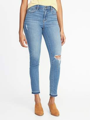 Old Navy Mid-Rise Curvy Distressed Skinny Ankle Jeans for Women