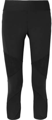 Nike Power Fly Lux Mesh-paneled Dri-fit Stretch Leggings - Black