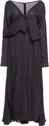 Prada Tie-Detailed Chiffon Midi Dress Size: 36