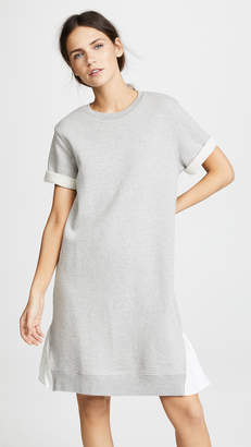 Clu Asymmetrical Dress with Contrast Ruffles