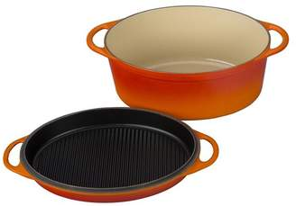 Le Creuset 7.75 qt Oval Oven With Reversible Grill Pan Lid
