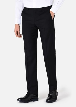 Emporio Armani Formal Trousers With Satin Waistband And Side Stripe