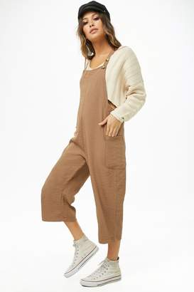 Forever 21 Cropped Pinafore Jumpsuit