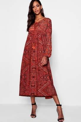 boohoo Tall Paisley Print Maxi Dress