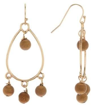 Melrose and Market Open Druzy Teardrop Earrings