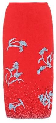 Prada Beaded angora-blend skirt