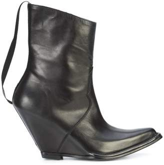 Unravel Project pointed toe wedge boots