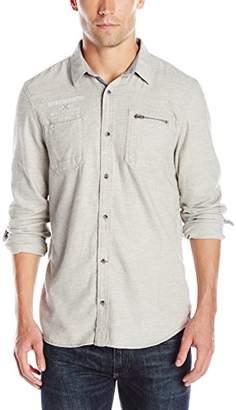 Buffalo David Bitton Men's Silexi Long Sleeve Fashion Button-Down Shirt