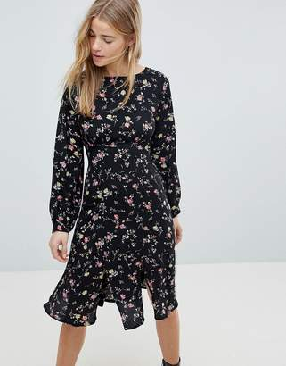 Girls On Film Midi Dress With Front Splits