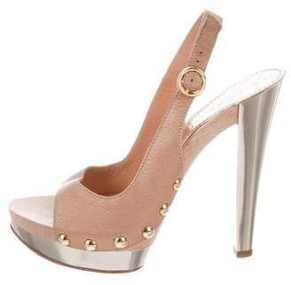 Casadei Platform Slingback Sandals