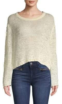 Open-Knit Crop Sweater