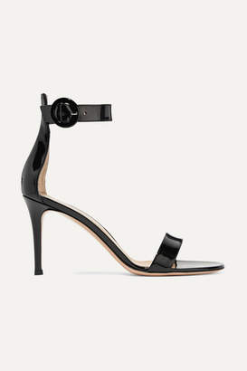 Gianvito Rossi Portofino 85 Patent-leather Sandals - Black