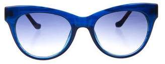 Linda Farrow The Row x Square Gradient Sunglasses