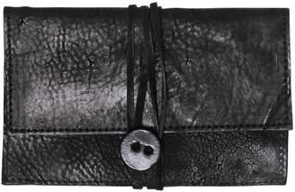 Embossed Leather Wallet W/ Wrap Closure