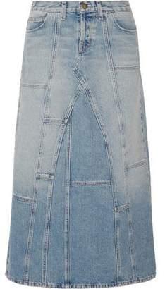 Current/Elliott The Diy Patchwork Denim Maxi Skirt