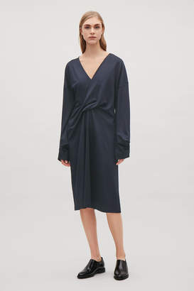 Cos TWIST-FRONT JERSEY DRESS