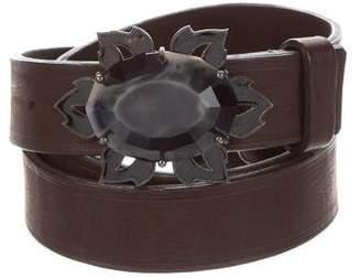 Lanvin Embellished Leather Belt