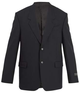 Balenciaga - Single Breasted Blazer - Mens - Black