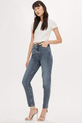 Topshop Womens Grey Cast Mom Jeans - Grey