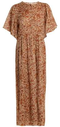 Masscob Floral-print cotton and silk-blend dress