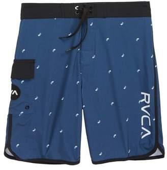 RVCA 'Eastern' Scalloped Hem Board Shorts