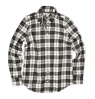 J.Crew Mercantile Women's Plus Size Long-Sleeve Flannel Shirt