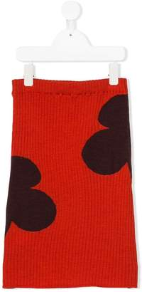 Marni floral knitted skirt