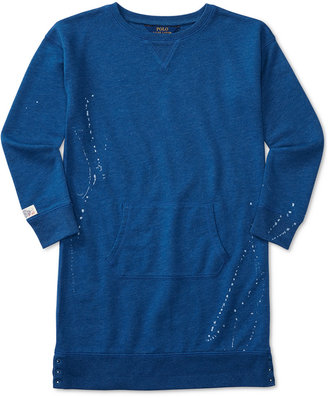 Ralph Lauren Splatter Printed Sweatshirt Dress, Big Girls (7-16) $59.50 thestylecure.com