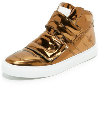 MM6 High Top Sneakers $375 thestylecure.com