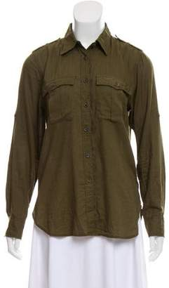 Denim & Supply Ralph Lauren Pointed-Collar Button-Up Top