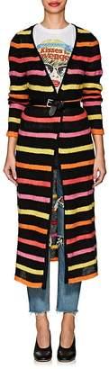 The Elder Statesman Women's Striped Cashmere Long Cardigan