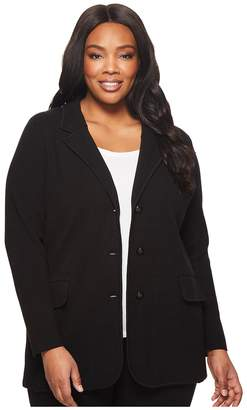 Lauren Ralph Lauren Plus Size Knit Sweater Blazer Women's Jacket