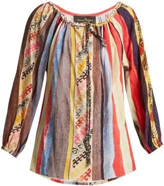 Vivienne Westwood Striped crepe blouse