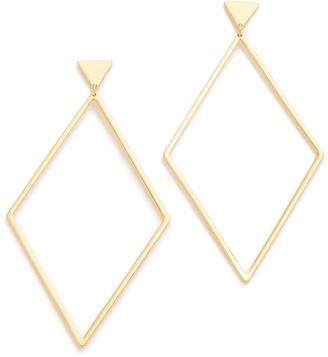 Gorjana Liv Drop Hoop Earrings $60 thestylecure.com