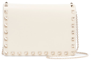Valentino - The Rockstud Leather Shoulder Bag - Ivory