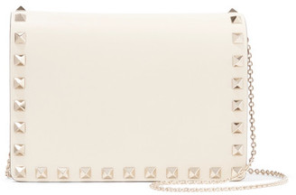Valentino - The Rockstud Leather Shoulder Bag - Ivory $1,125 thestylecure.com