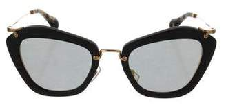 Miu Miu Matte Cat-Eye Sunglasses