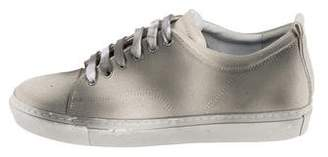 Lanvin Distressed Low-Top Sneakers